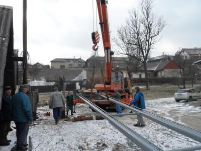 stavění sušáku SDH 2013