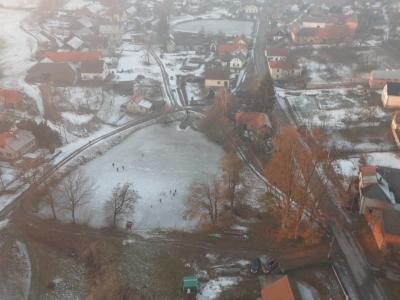 Malá Losenice ze vzduchu. 29. + 31.12.2016. Foto M. Štíbal
