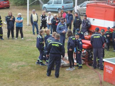 Soutěž v požárním útoku malých hasičů okrsku Velká Losenice v Malé Losenici.