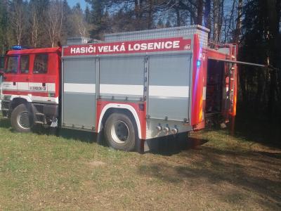 výjezd JPO Malá Losenice k likvidaci lesního požáru