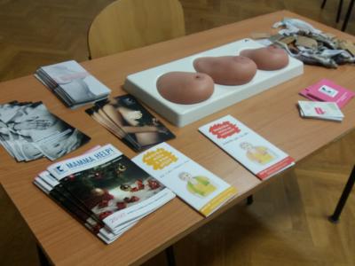 Přednáška o prevenci rakoviny prsou.