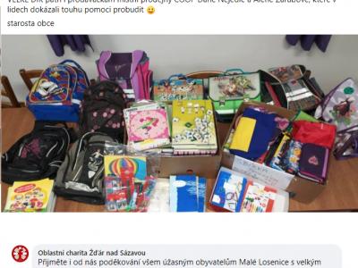 Sbírka školních potřeb