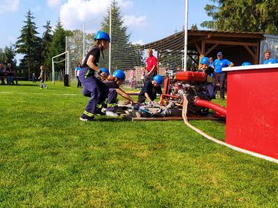 Soutěž v požárním útoku malých hasičů okrsku Velká Losenice ve Vepřové.